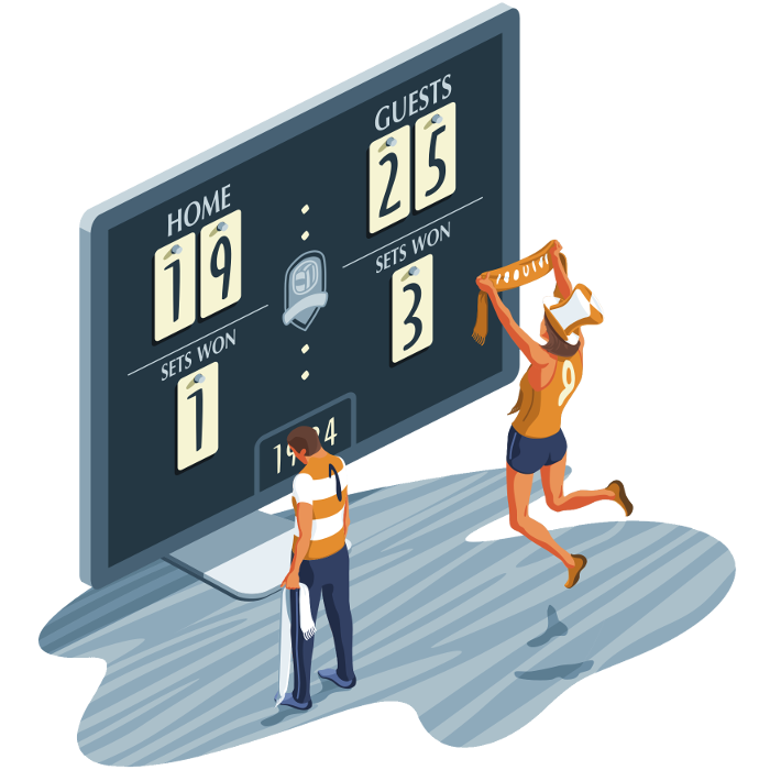 Beach volleyball scores