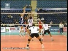 Bartosz Kurek 3rd meter spike (Poland - Greece)