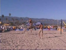 Phil Dalhausser great hit on two.