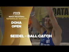 Surprising ball caught by Seidl - Qatar Open