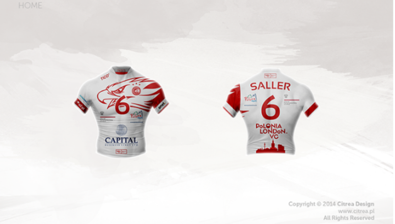 Volleyball sportswear and kit designing